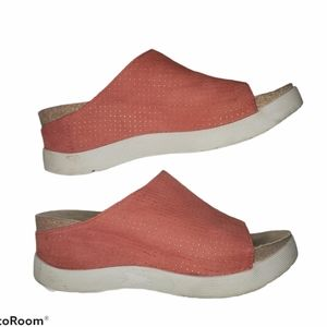 Fly London slip on sandals coral shoes size 38